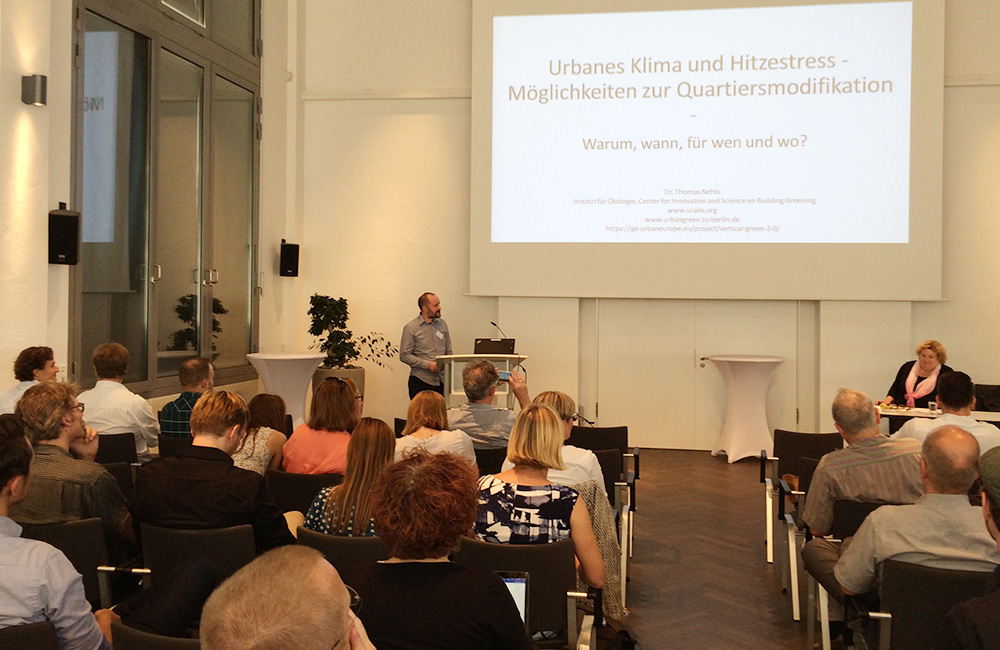 Keynote: Dr. Thomas Nehls, Center for Innovation and Science on Building Greening (CIBG)